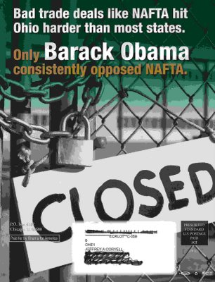 Obama 2008 Campaign Flier
