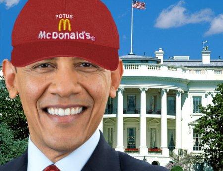 Obama praises McDonalds's Jobs