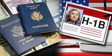 Hillary Clinton vs. Senator Bernie Sanders on Guestworker H-1B Visas