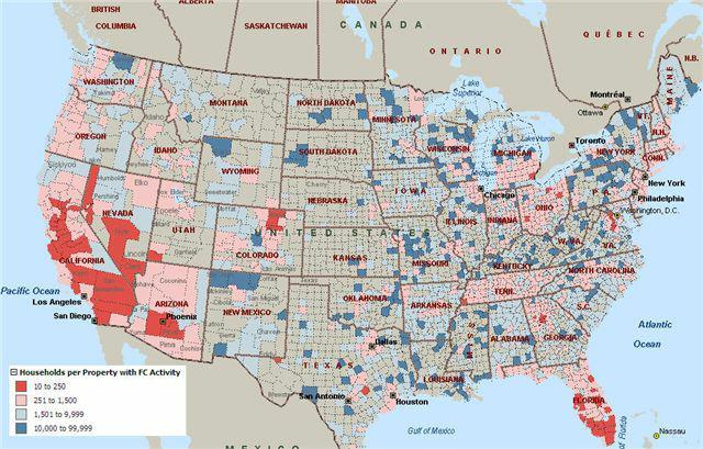 2008 Foreclosure Rates
