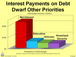 interest payments on debt before fed spending