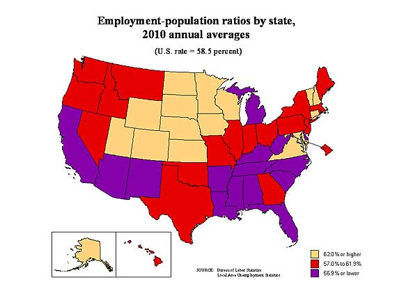 civilian pop rates states 2010