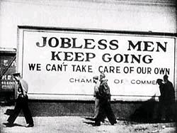 jobless men sign depression