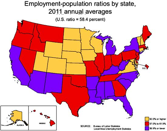 pop emp ratio state 11