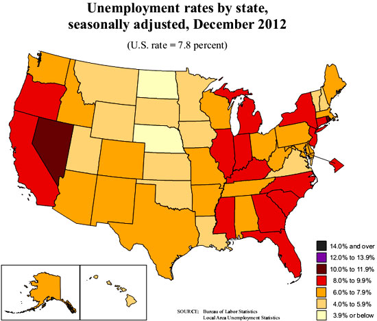 state unemployment map 12/12