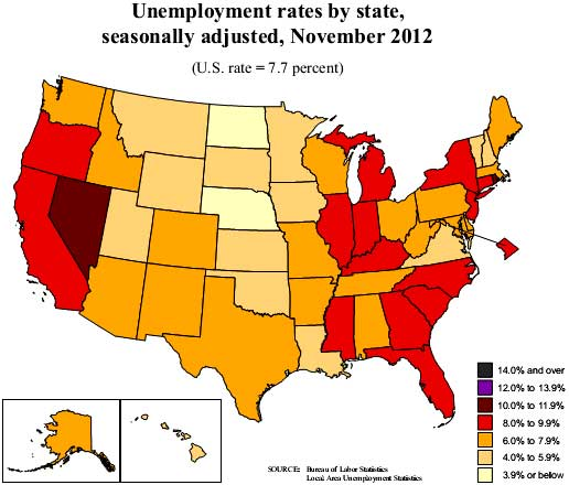 state unemployment map 11/12