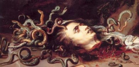 Rubens' head of Medusa (wikimedia commons)