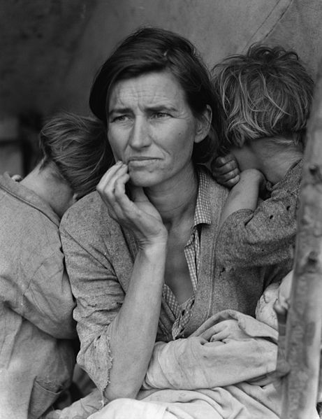 Dorothea Lange's 'Migrant Mother' (Library of Congress) via Wikipedia