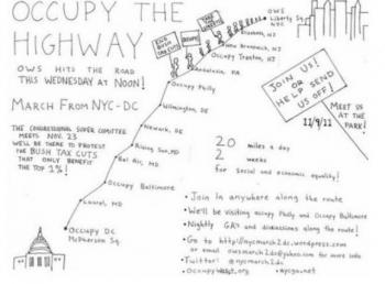 Occupy the Highway from Occupy The Nation webpage